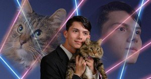 High school student includes family pet in yearbook photo