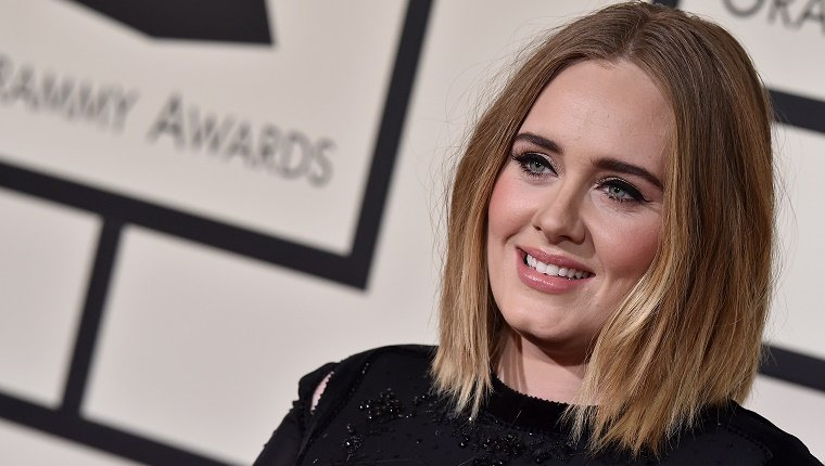LOS ANGELES, CA - FEBRUARY 15: Singer Adele arrives at The 58th GRAMMY Awards at Staples Center on February 15, 2016 in Los Angeles, California. (Photo by Axelle/Bauer-Griffin/FilmMagic)