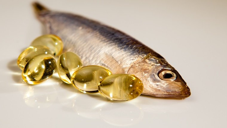 Cod liver oil together with sprat.