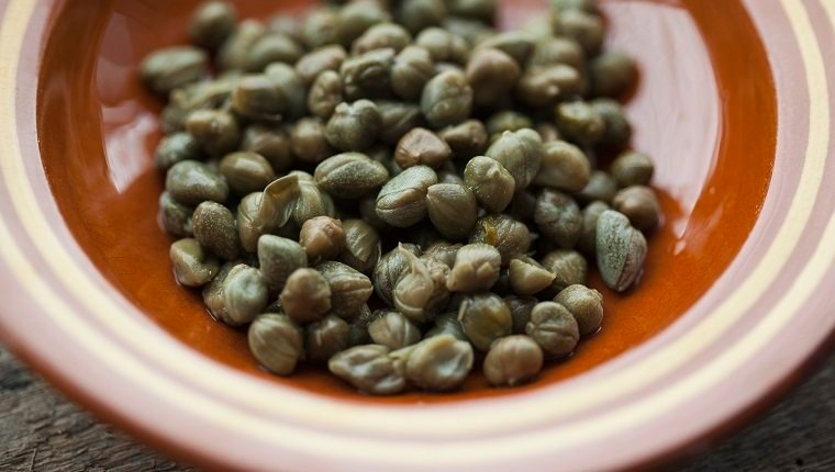 Bowl of capers