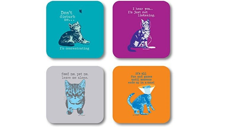 Funny Cat Drink Coasters