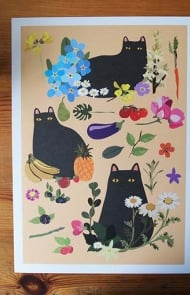 Black Cats Wall Art